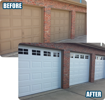 Before & After - Garage Door Installation Bartlett, IL