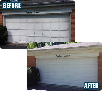 Before & After - Garage Door Repair Bartlett, IL