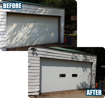 Before & After - Garage Door Replacement Bartlett, IL