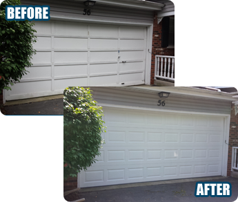 Before & After - Garage Door Tracks Bartlett, IL